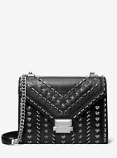 MK Whitney Studded Leather Convertible Shoulder 100% Real