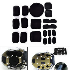 19pcs Black Eva Foam Pad Cushion for Tactical Airsoft Military Cycling Helmet@