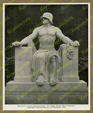 orig Fotodruck Eduard Beyrer Kriegerdenkmal Stahlhelm Schloßgarten Erlangen 1925
