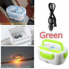 New Green Car Autos Electric Heated Food Warmer Container Lunch Hot Meal Box 40W