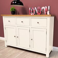 Belgravia White Painted Oak Sideboard / Large / Oak Cupboard / Solid Wood / New