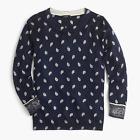 NWT J. Crew Women's Bandana-Printed Tippi Sweater - Navy Ivory  XS  S M L XL