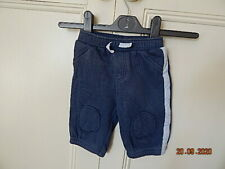 Cherokee Baby Boys Blue Jogging Bottoms 0-3 Months With Knee Patches