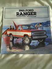 Ford USA Ranger brochure 1985