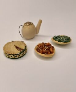 Dollhouse Miniature 1:16 Food, Lundby Size, VINTAGE 100% Hand-Made Clay Food