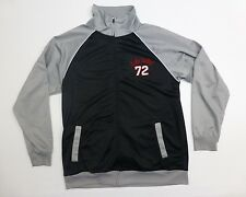 Ecko Unltd Mens Size L Black & Gray Full Zip Up Track Jacket Excellent Condition