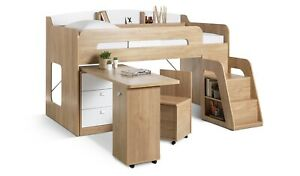 Habitat Ultimate Storage Mid Sleeper Bed Frame - Oak (picture is beech colour)