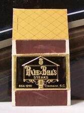 Rare Vintage Matchbook Cover J2 Clemson South Carolina Pixie & Bill's Pineapple
