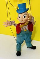 RARE! Vintage GUND DISNEY JIMINY CRICKET Marionette Puppet 1960's