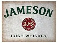 JAMESON TIN SIGN IRISH WHISKEY DUBLIN IRELAND CORK 12x8 PUB 1.00  RESTAURANT