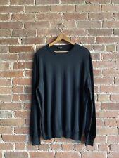 Vintage Lanvin Sweater, Sz XL 100% Cotton, Black Italy