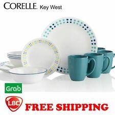 Corelle blue key west 16PC set original box Free Shipping