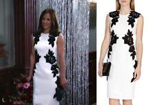 NWT $495 Karen Millen Black Velvet Appliqué Dress SZ 4