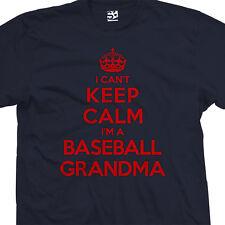 Baseball Grandma T-Shirt - I Can't Keep Calm I'm a Granny - All Sizes & Colors
