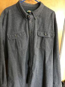Cabela's Men's XXLT Gray Chamois Cotton Long Sleeve Button Down Workwear Shirt