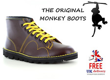 GRAFTERS Monkey Boots B430BD Mens Leather 7-Eyelet  - Wine Red FREE UK DELIVERY
