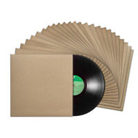 Tunephonik 12 Inch Vinyl Record Jackets - Kraft Color w No Center Hole - 25 pack