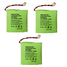 3 x  Rechargeable Cordless Phone Battery for  iDECT S2i 2.4v 600mah Ni-MH