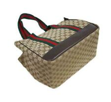 GUCCI SMALL DOG CARRIER BAG GENUINE USED WEBBING GG CANVAS ZIPPER FREE SHIPPING