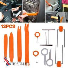 12X Plastic Car Radio Door Clip Panel Trim Dash Audio Removal Pry Tool Kit UK