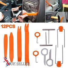12pcs Car Trim Removal Tool Radio Door Clips Panel Dash Audio Pry Tools Kit UK