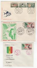 MALI  3 FDC enveloppes timbres 1er jour /FDC122