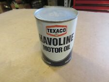 VINTAGE TEXACO HAVOLINE QUART OIL CAN METAL