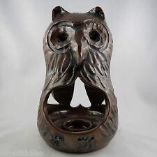 """Photophore Chouette/Hibou """"FELIX CERAM"""" Céramique VALLAURIS owl/anasse/ceramic"""