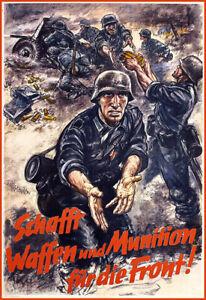 WWII German Front World War II   Poster Print