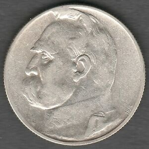Poland 5 Zlotych 1934 RIFLE CORPS Pilsudski High Grade UNC ?? Silver coin (0121)