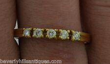 Big Men's 5 Diamonds 14k Yellow Gold Wedding Ring Size 12 Plus
