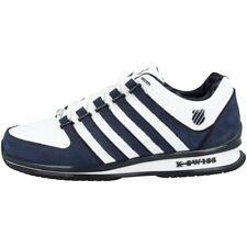 K-Swiss Rinzler SP Schuhe Freizeit Sport Leder Sneaker white blue 02283-156