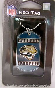 Jacksonville Jaguars Team Logo Dog Tag Necklace Neck Tag with Chain Engraveable