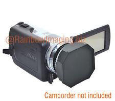 JJC 37mm Lens Hood + Cap for Digital Video DV Camcorder Canon Panasonic Sony