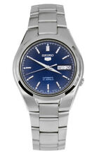 Seiko Automatic SNK603 SNK603K1 Men Blue Dial Day Date Stainless Steel Watch