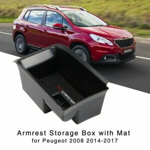 Armrest Storage Box for Peugeot 2008 2014 2015 2016 2017 Central Console Tray