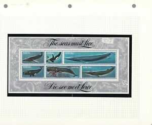 BC SOUTH WEST AFRICA 1980 WHALES SS 442A WITH MATCHING STAMPS MNH