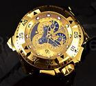 Invicta Reserve Excursion Master Calendar Swiss Made 18K Gold Tone Chrono Watch