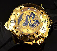 Invicta Reserve Excursion Master Calendar Swiss Made 18K Gold Tone Chrono Watch