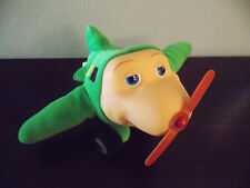 Jay Jay the Jet Plane Snuffy Green Airplane Plush Puppet GUC
