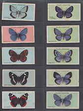 Série complète 50 étiquettes cartes Anglaise  Dessins Papillons     Année 1927