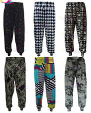 Womens Harem Pants Ladies Printed Cuffed Bottom Ali Baba Trousers lot Sizes 8-26