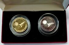 CHALLENGER 7 Space Monument Project 2 Medallion SET each 1 ozt .999 SILVER