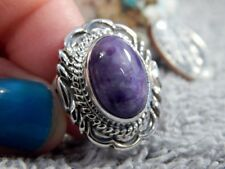 New Ladies Sterling Silver Chaorite Ring By Navajo Virgil Chee Size 7