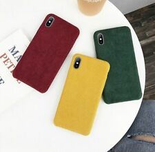 Corduroy Cloth Texture Phone Case Warm Hard Plastic Cover for iPhone 11 X XR XS