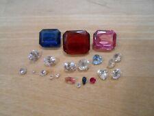 Estate Gemstone Lot Taken From Solid 10K 14K Gold Jewelry Ring Pendant Gem A40