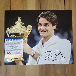Roger Federer Signed 8x10 Photo COA PSA/DNA #AJ22085 Autographed
