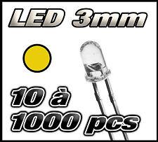 """E203# """"Livraison gratuite"""" LED jaune 3mm de 10 à 1000pcs  jaune LED"""