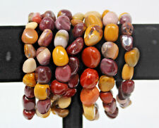 Mookaite Tumbled Gemstone Bracelet 6-8 mm stones (Stretchy - US Seller) Mookite