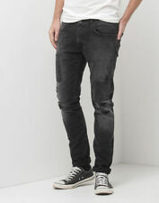 Distressed Mid Rise Tapered Jeans for Men